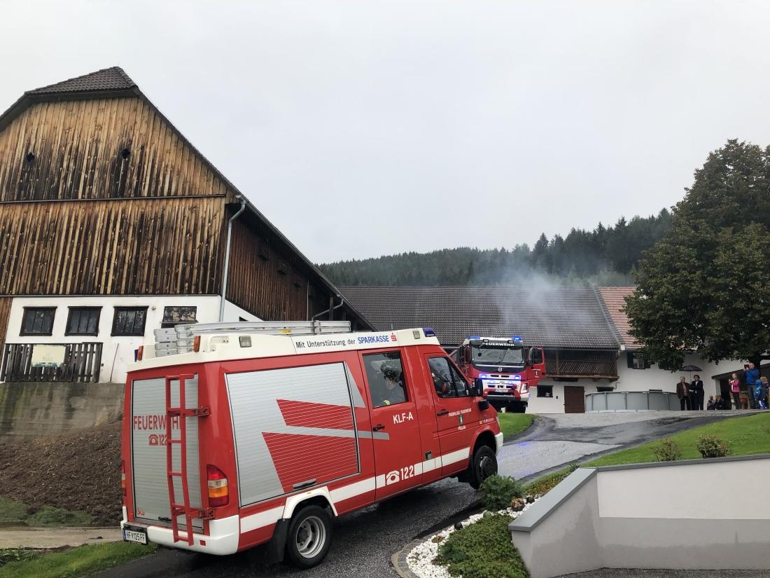 Wirtschaftsgebäudebrand in Präits – Übung