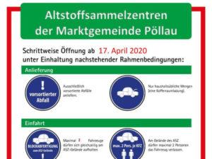 Schrittweise Öffnung der ASZ -Pöllau
