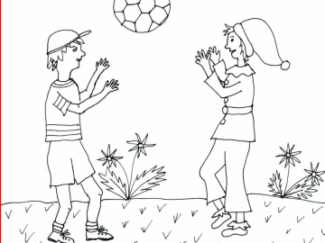 Bild 18 mit Text - Ball spielen