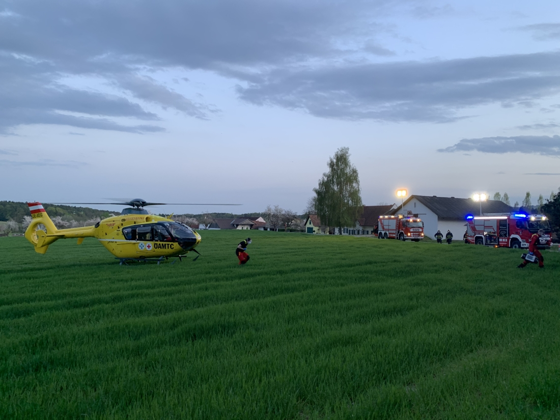 Schwerer Motorradunfall in Winzendorf