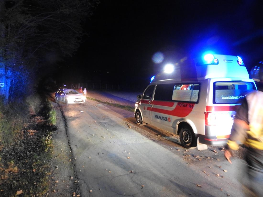 Verkehrsunfall mit verletzter Person