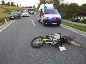 Motorradunfall in Obersaifen