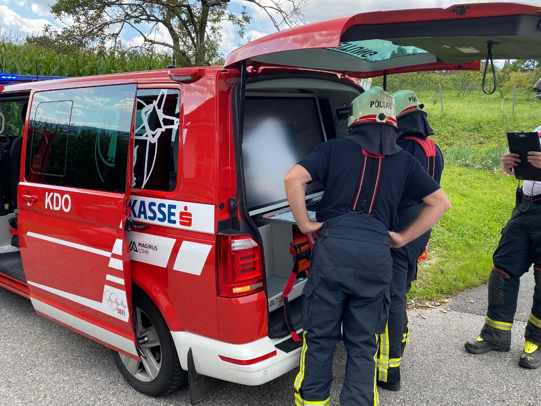 Gesamtübung: Brand in Unterneuberg