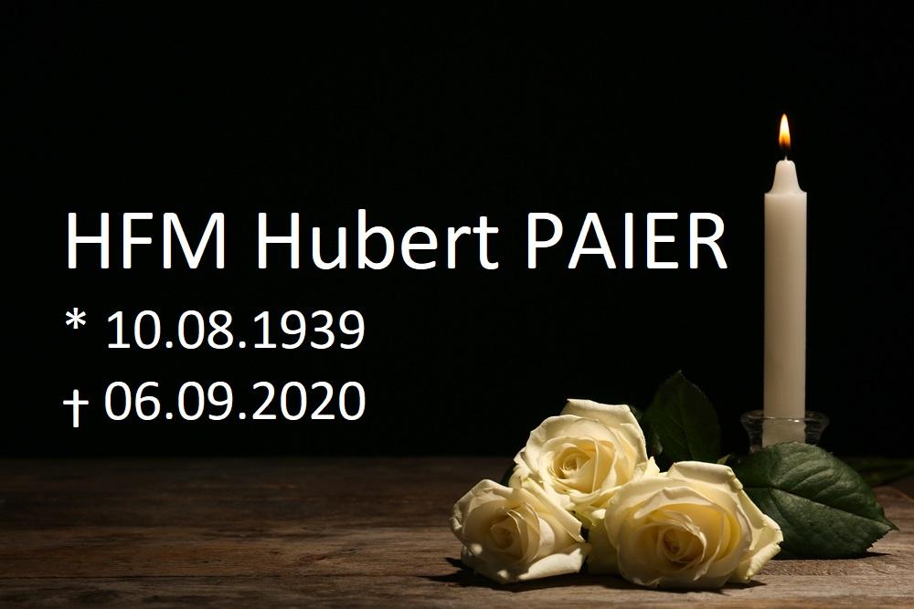 HFM Hubert PAIER verstorben