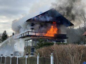 Wohnhausbrand in Obersaifen