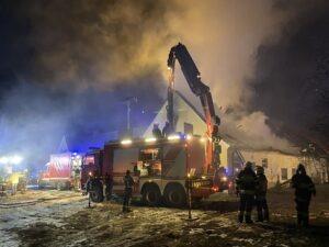 Wirtschaftsgebäudebrand in Hartl