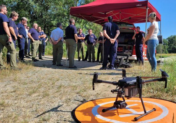 Drohnen-Vorführung im Burgenland
