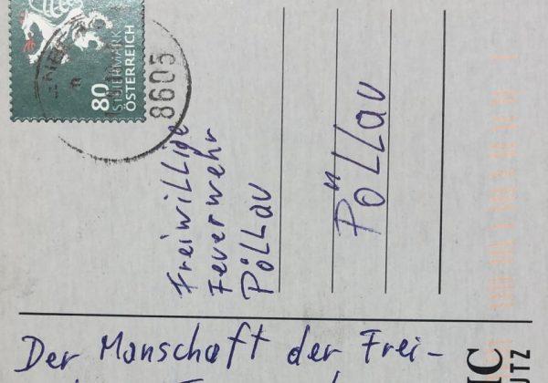 Eine Postkarte für die Freiwillige Feuerwehr Pöllau …