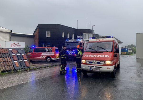 Unwettereinsätze in Pöllau