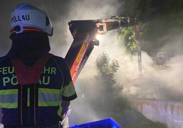 Misthaufenbrand in Stubenberg