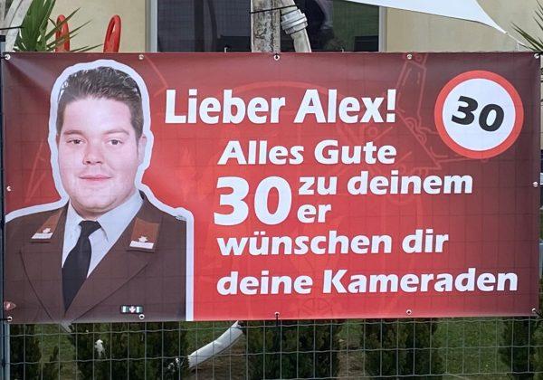 30. Geburtstag von OLM Alexander Flanhofer