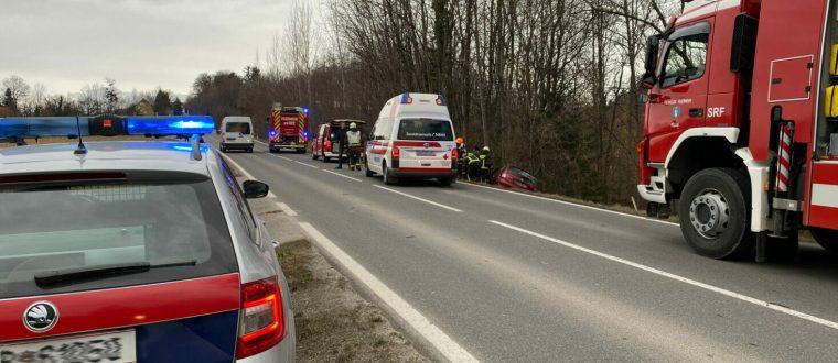 Verkehrsunfall mit verletzter Person in Obersaifen