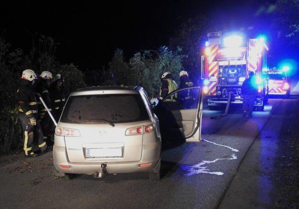 Verkehrsunfall in Hinteregg